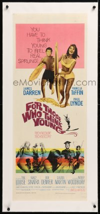 6t038 FOR THOSE WHO THINK YOUNG linen insert 1964 James Darren, Paul Lynde, Tina Louise, Bob Denver