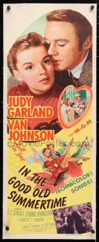 6t042 IN THE GOOD OLD SUMMERTIME linen insert 1949 Judy Garland, Van Johnson & Buster Keaton!