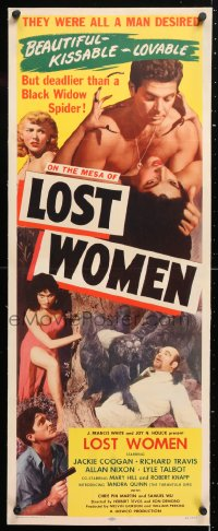 6t043 MESA OF LOST WOMEN linen insert 1952 grown Jackie Coogan vs super women who kissed & killed!