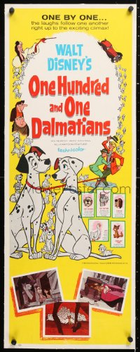 6t046 ONE HUNDRED & ONE DALMATIANS linen insert 1961 most classic Walt Disney canine family cartoon!