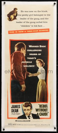 6t047 REBEL WITHOUT A CAUSE linen insert 1955 Nicholas Ray, James Dean, a bad boy from a good family