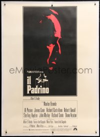 6t259 GODFATHER linen Italian 1p 1972 incredibly rare first release with great different Brando art!