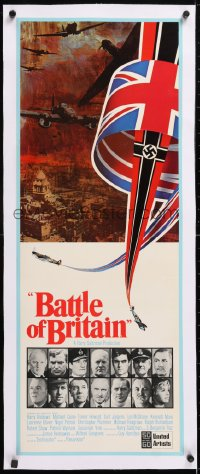 6t032 BATTLE OF BRITAIN linen insert 1969 all-star cast in World War II!