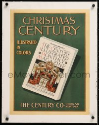 6t178 CENTURY MAGAZINE linen 15x20 advertising poster 1901 for the Christmas issue in colors!