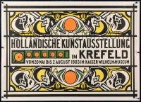 6t070 HOLLANDISCHE KUNSTAUSSTELLUNG linen 34x48 German museum/art exhibition 1903 great Prikker art!