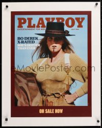 6t193 PLAYBOY linen 18x24 advertising poster 1984 X-rated sexy Bo Derek when she made Bolero, rare!