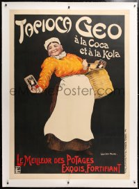 6t200 TAPIOCA GEO linen 40x56 French advertising poster 1900s great Louis Lucien Faure art!