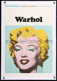 6t072 TATE GALLERY WARHOL linen 20x30 English museum/art exhibition 1971 Andy art of Marilyn Monroe!
