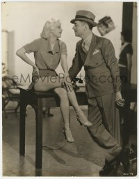 6w141 RECKLESS deluxe 10.25x13.5 still 1935 sexy Jean Harlow showing her legs by William Powell!