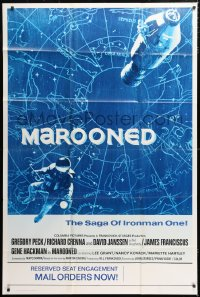 6w117 MAROONED advance 40x60 1969 mail your orders for the reserved seat engagement, cool art, rare!
