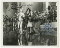 6w102 WIZARD OF OZ signed 8.25x10 REPRO still 1970s by Tin Man Jack Haley AND Scarecrow Ray Bolger!