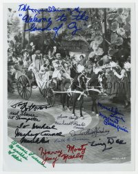 6w103 WIZARD OF OZ signed 8x10.25 REPRO still 1970s by TWELVE of The Munchkins!