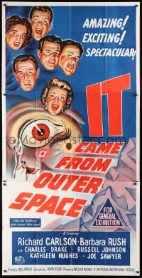 6w144 IT CAME FROM OUTER SPACE Aust 3sh 1953 Jack Arnold classic 3-D sci-fi, cool art, very rare!