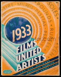 6w110 UNITED ARTISTS 1933 Spanish campaign book 1933 Mickey Mouse, Bela Lugosi in White Zombie!