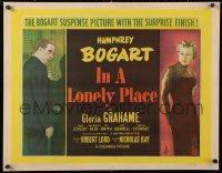 6w077 IN A LONELY PLACE English 1/2sh 1950 Nicholas Ray, Humphrey Bogart, Gloria Grahame, different