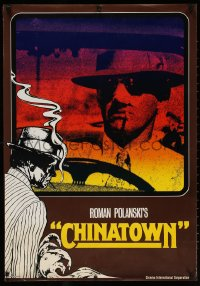 6w211 CHINATOWN complete set of 10 teaser German posters 1974 Polanski, Jack Nicholson, Faye Dunaway