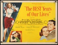 6w066 BEST YEARS OF OUR LIVES style B 1/2sh 1947 Andrews, Wright, Mayo, Russell, different & rare!