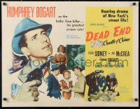6w071 DEAD END 1/2sh R1954 top-billed Humphrey Bogart as the baby face killer, William Wyler
