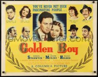 6w073 GOLDEN BOY 1/2sh 1939 William Holden's debut movie, boxing classic, Barbara Stanwyck, rare!