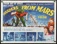6w078 INVADERS FROM MARS 1/2sh 1953 William Cameron Menzies, hordes of green monsters from space!