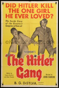 6w172 HITLER GANG style B 1sh 1944 one of the greatest World War II propaganda movie posters!