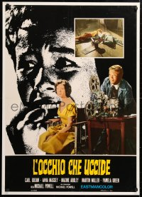 6w043 PEEPING TOM Italian 27x38 pbusta R1960s Carl Boehm, Michael Powell English voyeur classic!