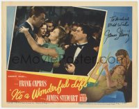 6w097 IT'S A WONDERFUL LIFE signed LC #6 1946 by James Stewart, who cuts in on Alfalfa & Donna Reed!