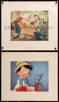 6w031 PINOCCHIO lot of 4 13x15 color prints 1940 given at premiere theater in NYC, plus program!