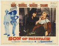 6w099 SON OF PALEFACE signed LC #6 1952 by BOTH Bob Hope AND Jane Russell, she's dry shaving him!