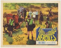 6w100 THREE STOOGES MEET HERCULES signed LC 1961 by Moe Howard, Larry Fine, Joe AND Samson Burke!