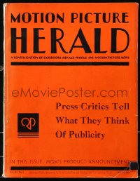 6w128 MOTION PICTURE HERALD exhibitor magazine July 15, 1933 with MGM 1933-34 campaign book, rare!
