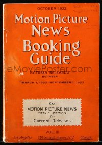 6w123 MOTION PICTURE NEWS 5.5x8 exhibitor magazine October 1922 Gloria Swanson in Beyond the Rocks!