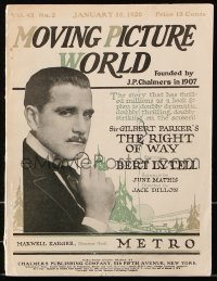 6w122 MOVING PICTURE WORLD exhibitor magazine Jan 10, 1920 1st verison of Superman & Invisible Ray