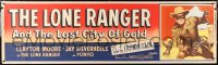 6w011 LONE RANGER & THE LOST CITY OF GOLD paper banner 1958 masked Clayton Moore c/u, ultra rare!