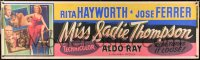 6w012 MISS SADIE THOMPSON 3D paper banner 1953 sexy Rita Hayworth turns it loose, Ferrer, Ray, rare!