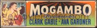 6w013 MOGAMBO paper banner 1953 great images of Clark Gable, Grace Kelly & Ava Gardner in Africa!