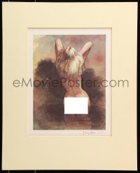 6w047 FRANK FRAZETTA matted signed #12/100 16x20 art print 1978 watercolor art of Nude woman!
