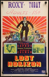 6w056 LOST HORIZON WC 1937 Frank Capra, James Montgomery Flagg art of Ronald Colman, very rare!
