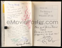 6w090 MAKING OF THE WIZARD OF OZ signed hardcover book 1977 by Bolger, Hamilton AND 13 Munchkins!