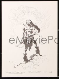 6w046 FRANK FRAZETTA #1364/1500 limited edition 11x15 art print set 1977 Kubla Khan, one signed!