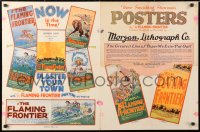 6w134 FLAMING FRONTIER pressbook 1926 Hoot Gibson, color images of all posters, unfolds to 23x36!
