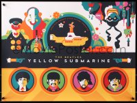 6w030 YELLOW SUBMARINE #275/797 limited edition 18x24 art print set 2012 Whalen art of The Beatles!