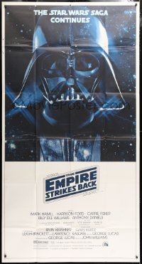 6x098 EMPIRE STRIKES BACK 3sh 1980 Darth Vader helmet and mask in space, George Lucas classic!