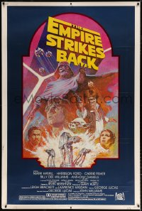 6x124 EMPIRE STRIKES BACK 40x60 R1982 George Lucas sci-fi classic, cool artwork by Tom Jung!
