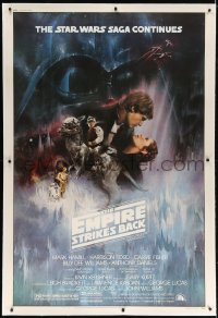 6x099 EMPIRE STRIKES BACK linen 40x60 1980 classic Gone With The Wind style Roger Kastel art, rare!