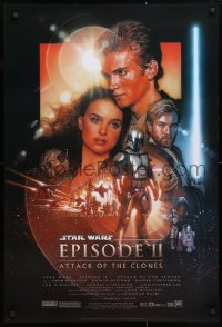 6x237 ATTACK OF THE CLONES style C DS 1sh 2002 Star Wars Episode II, artwork by Drew Struzan!