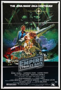6x125 EMPIRE STRIKES BACK Aust 1sh 1980 George Lucas sci-fi classic, cool Noriyoshi Ohrai art!
