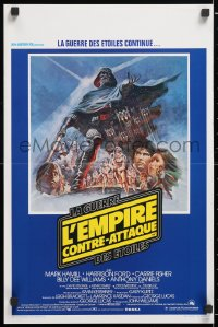 6x128 EMPIRE STRIKES BACK Belgian 1980 George Lucas sci-fi classic, cool artwork by Tom Jung!