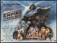 6x129 EMPIRE STRIKES BACK black title style British quad 1980 George Lucas, different Tom Jung art!