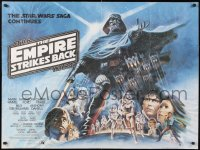 6x130 EMPIRE STRIKES BACK white title style British quad 1980 George Lucas, different Tom Jung art!